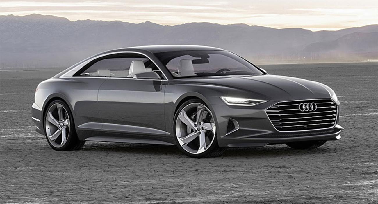 Audi A-9 e-tron Tesla Rival Side View