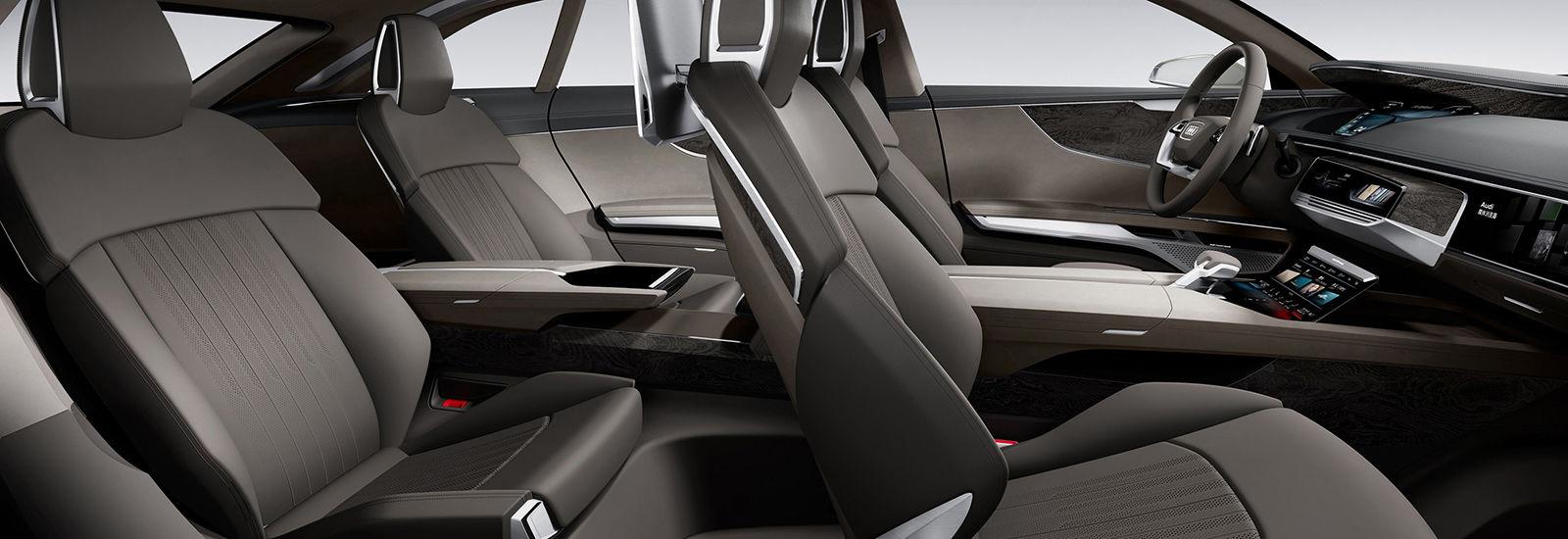 Audi A-9 e-tron Tesla Rival Interior View